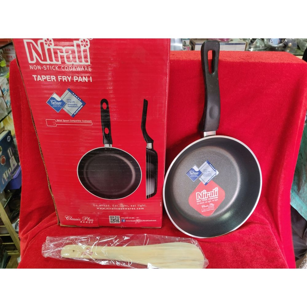 Nirali non stick cookware taper fry pan