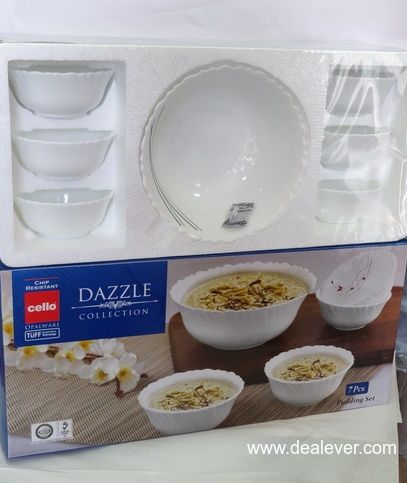 Cello Dazzle 7 piece pudding set