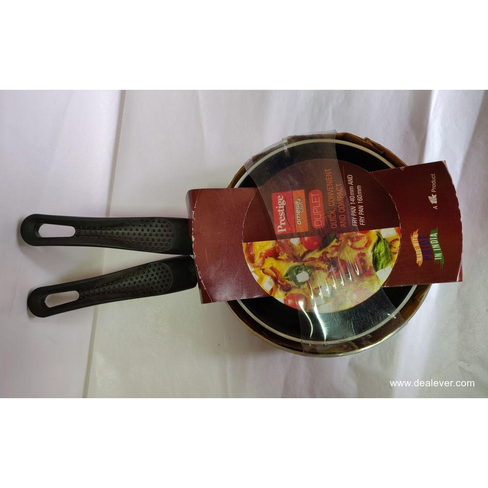 Prestige Duplet Fry Pan 140mm and 160mm
